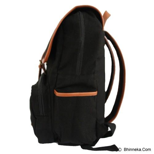 PULCHER Backpack [B-01] - Black - Backpack Pria